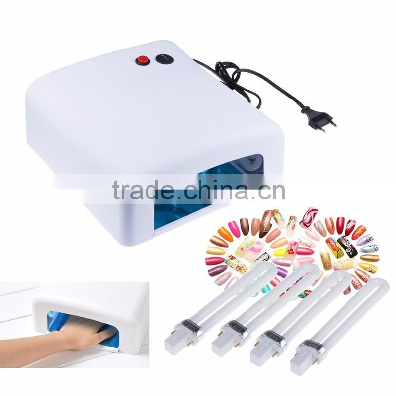 Wholesale nail art supplies phototherapy manicure kit mail 818 phototherapy machine 36 w 120 seconds timer nail phototherapy lam