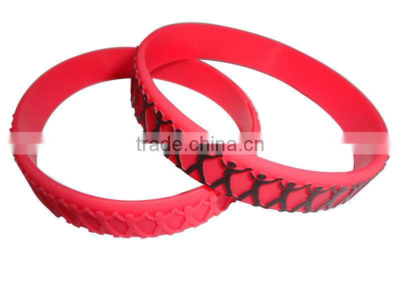 Durable cheap silicone arm candy cuff bracelet mens hand bracelets