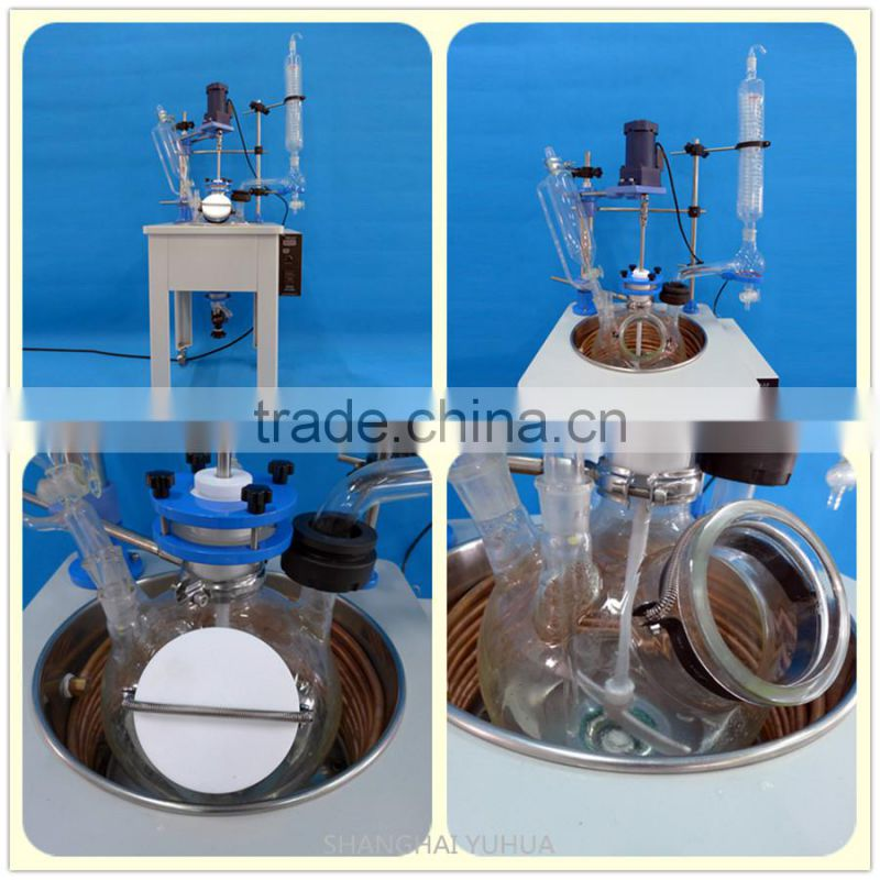 Single Layer 10L Chemical Glass Reactor China Manufacturer