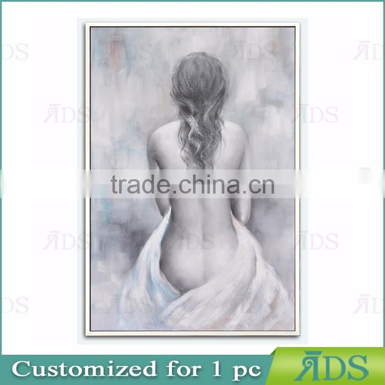 Popular Modern Chinese Girl Nude Oil Painting