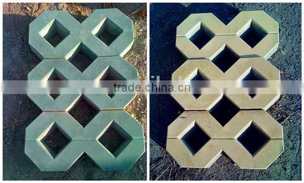 Wuxi refractory cement brick/grass tile, paving bricks for parkinglot/Shaped like a 8