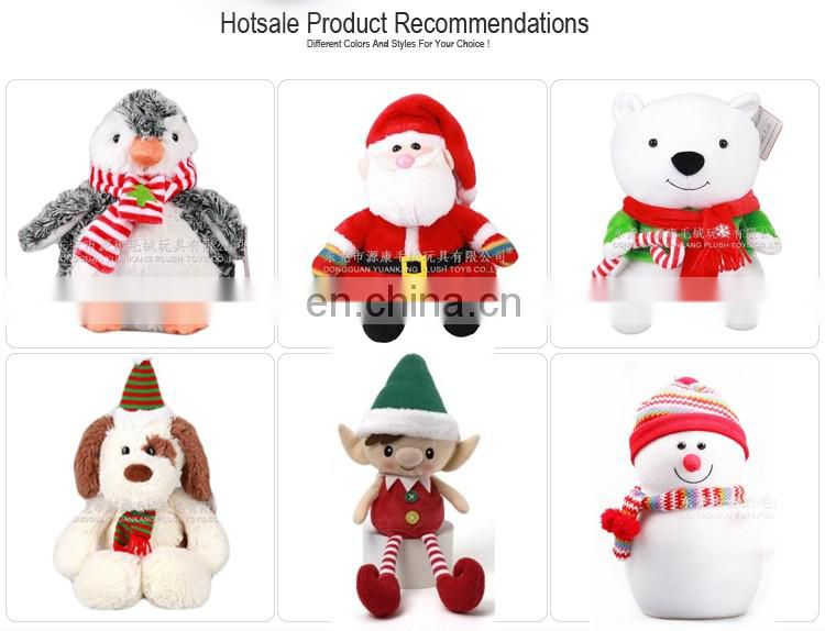 2016 Plush christmas items toys & Christmas stuffed animals deer with scarft
