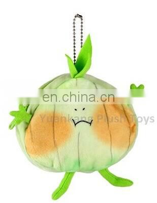Wholesale mini plush vegetable coin purse bag