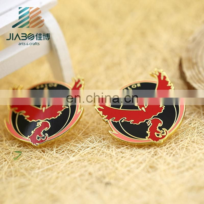 Jiabo custom Phoenix butterfly badge pin badge clip