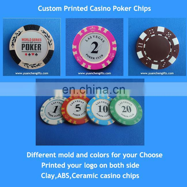 Customized metal golf poker chip with magnetic golf ball markers