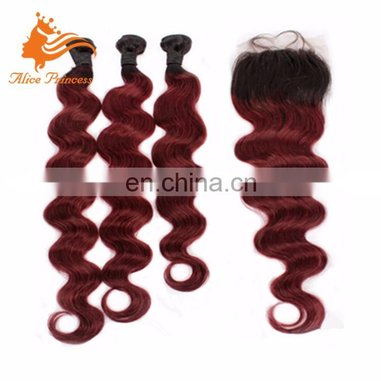 new peruvian full body wave 3 bundles red brazilian hair weave brazilian ombre color hair weft