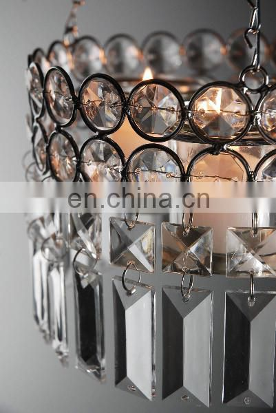 Hanging Crystal Candle Holder 14in
