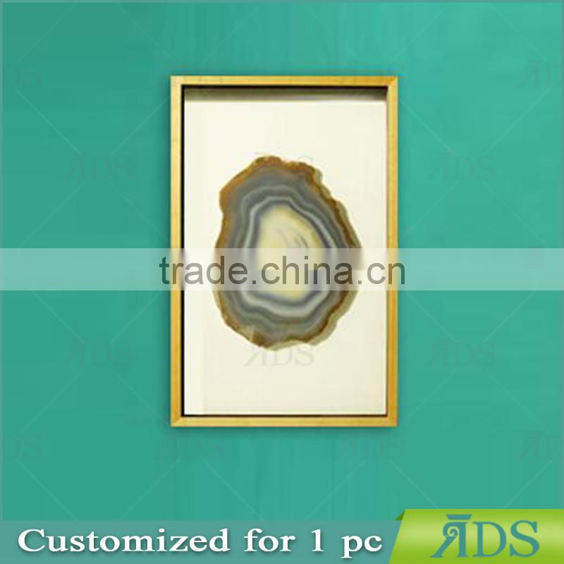 Framed Handmade Agate 3d shadow box wall art