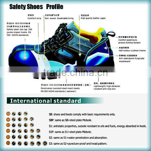 Best Selling Action Leather Safety Shoes Standards Sb Sbp