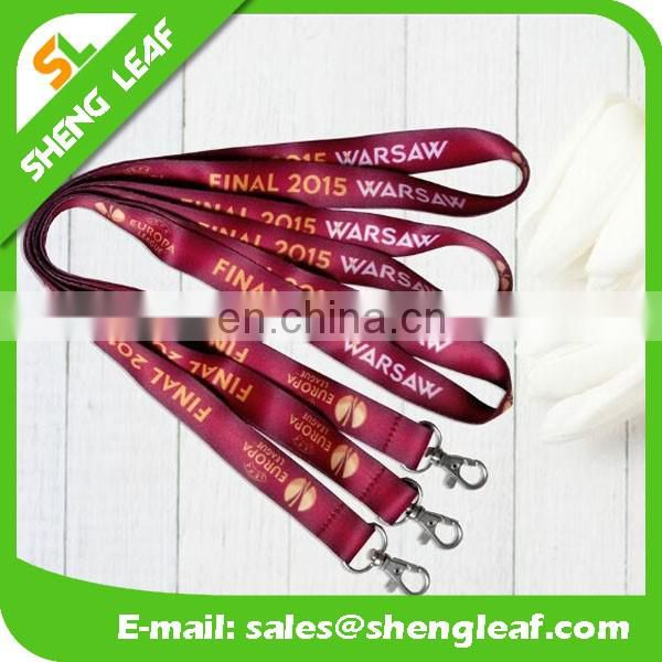 Hot Selling Promotional Cheap Polyester Blank Lanyard Custom Lanyard