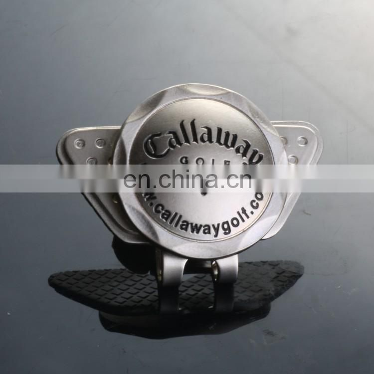 Zinc alloy golf hat clip with magnetic ball marker custom