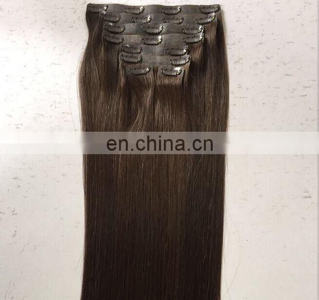High Quality Cheap 100% Brazilian Human Hair Pu Skin weft Clip In Remy Hair Extension