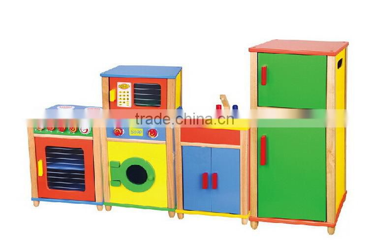 Yunhe Factory Solid Wood Made Pretend Play Kitchen Set Best Selling Baby Toy New Wooden Kitchen Toy