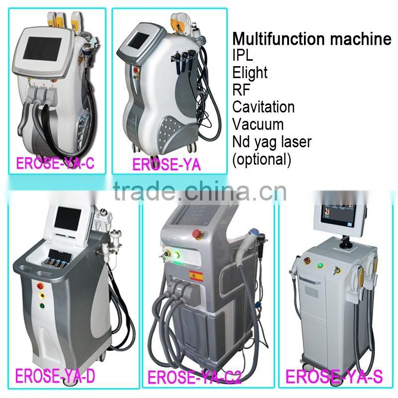 multi 6 handles IPL Elight RF Laser cavitation slimming machine
