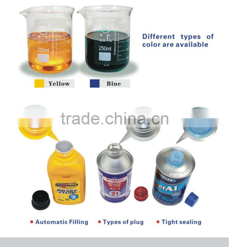 high quality tin brake fluid dot 3 made in china