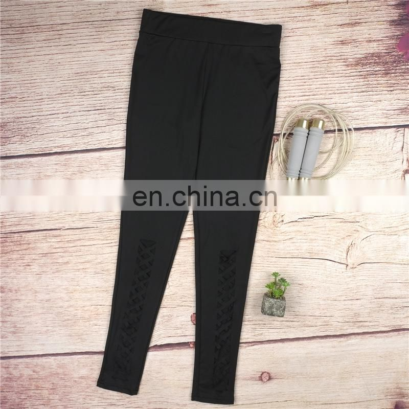 Fast-drying fitness yoga leggings tight bulk gym hollow running pants