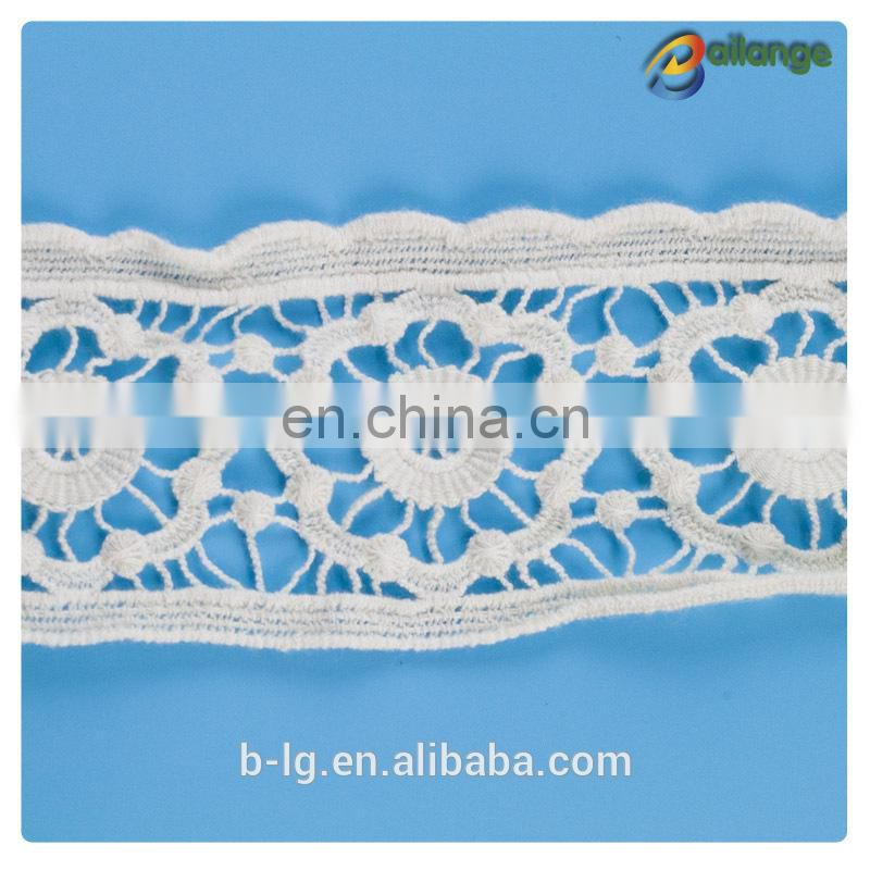 Lace fabric for cloth Guangzhou custom cotton guipure lace fabric