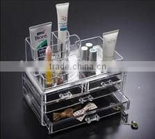 Make-up clear plastic box/Cosmetic Acrylic Organizer Storage Box Trade Assurance Supplier