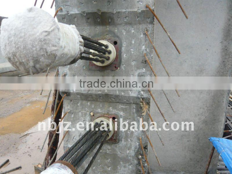 Chinese post tensioning anchor for Uzbekistan roof structure