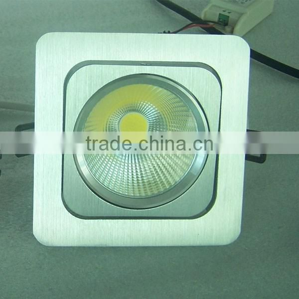 High quality 20W dimmable dubbele inbouwspot, rectangular led downlight