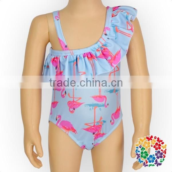 Ruffle One piece Happy flowers Swimsuits for baby girls