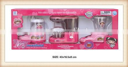 plastic fruit and juice machine kids kitchen set toy