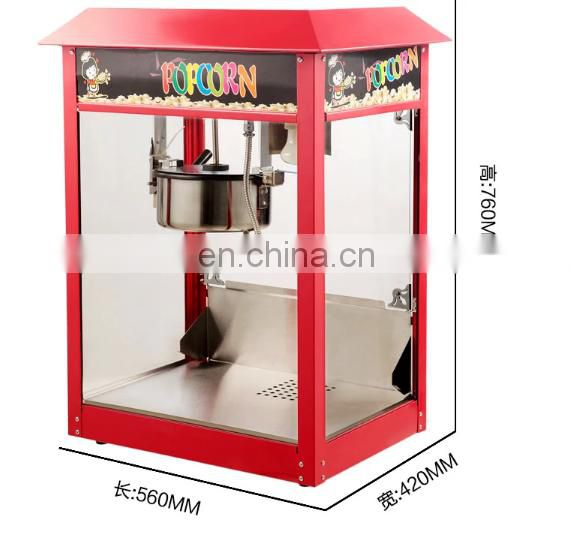 2018 Hot sale commercial stainless steel electric Industrial popcorn machine price with CE certificate