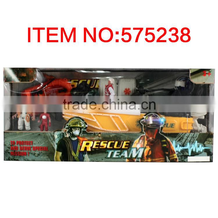 Rescue team series plastic rescue toys set
