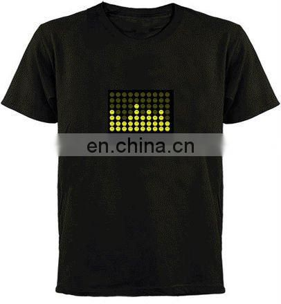 led sound activated shirts musical el shirt sound active t shirt new designs