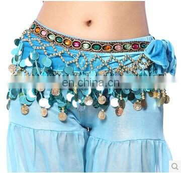 Egyptian style sequins shiny women Belly dance hip scarf belts Y-2041#