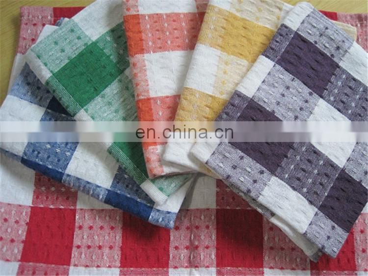 Low-Priced Elegent Checkered Waffle Cotton Tea Towel