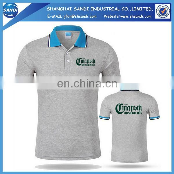 Promotional custom golf mens polo shirt with logo
