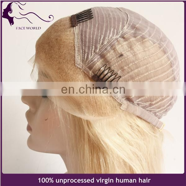 15Years experience human hair wig blonde chinese virgin remy hair wig