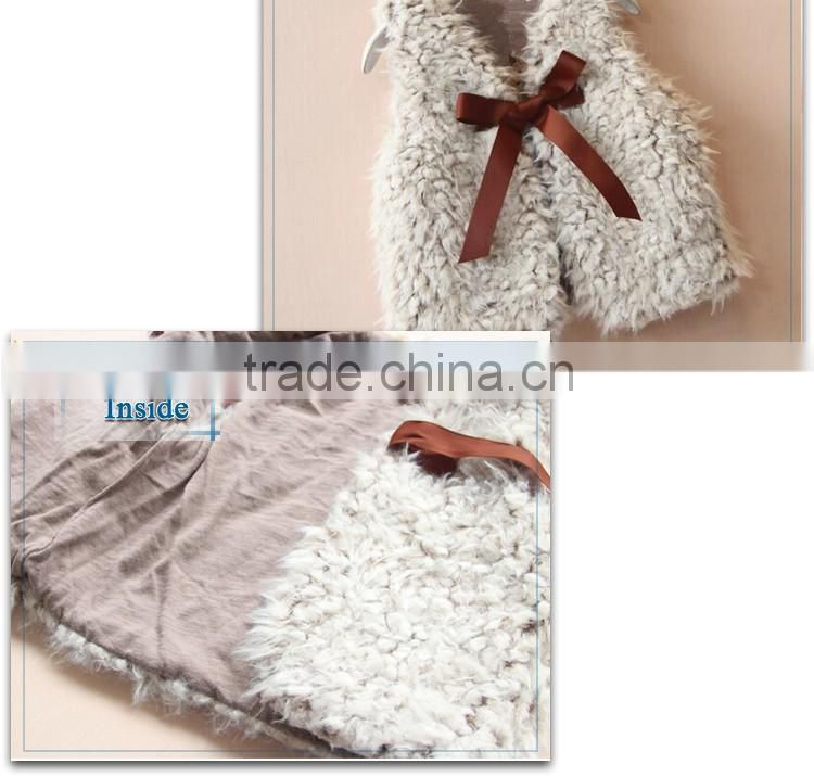 beautiful baby girl winter wear, faux fur vest, waistcoat