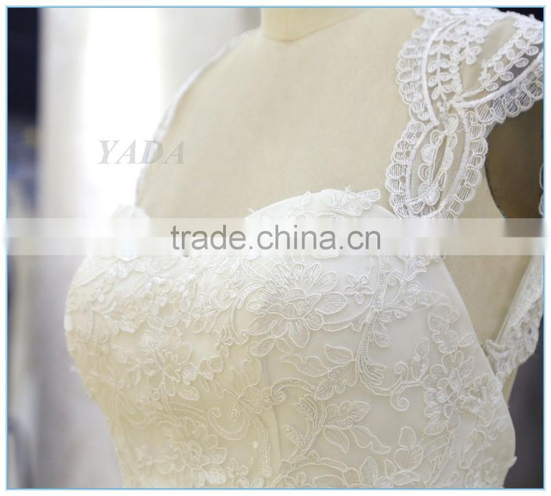 Backless Embroidery Lace Sweetheart Wedding Dress Bridal
