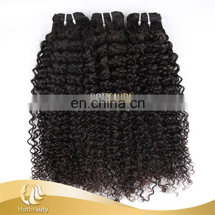 2016 New Arrival High Quality virgin brazilian human hair kinky hair weave natural hair color on tangle on shedding