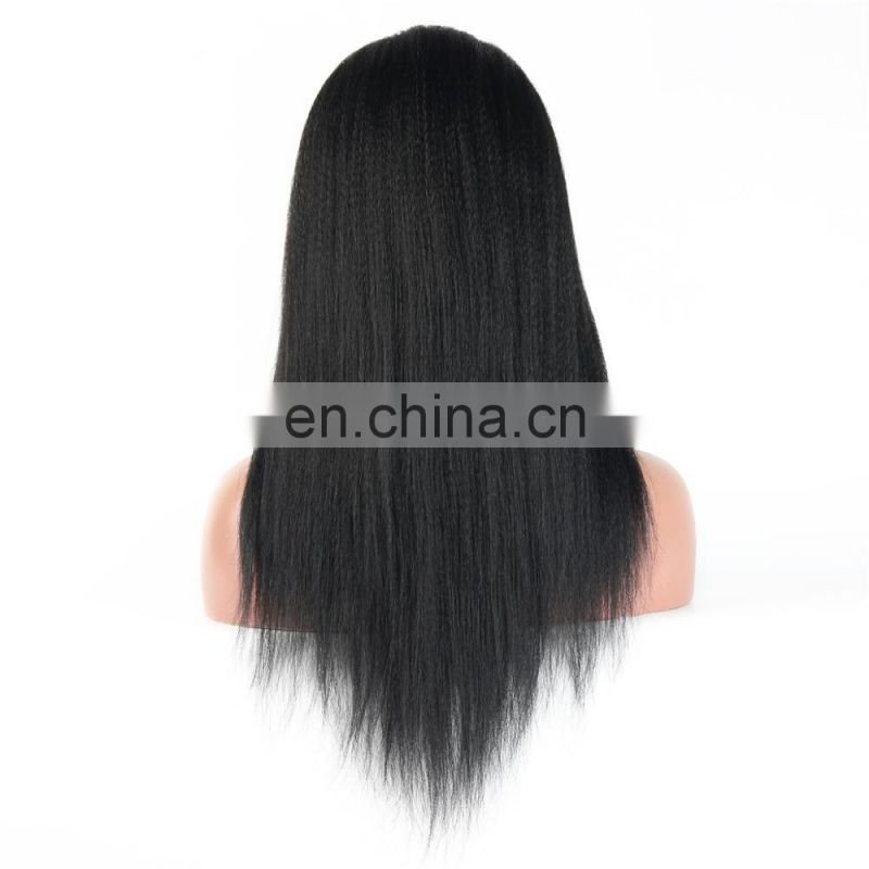 Youth Beauty Hair 2017 Best saling brazilian virgin remy hair lace front wig in yaki straight 8A grade hair factory price