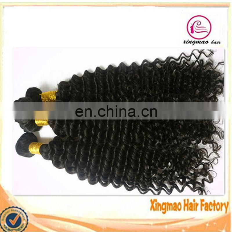 Malaysian kinky curl Human Hair Extensions Virgin Malaysian Hair Weaves Natural Black 3pcs lot Malaysian Hair 100g/pc 8-30 inch