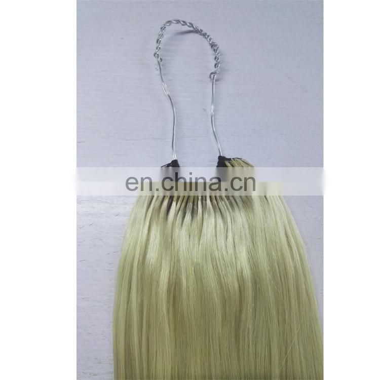 Two cotton thread I tip strand cotton thread hair extensions