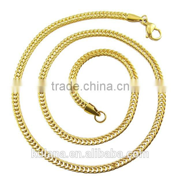 3.5mm Fox Tail Chain Gold Necklace Designs in 3 grams 91809
