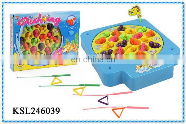 kids plastic toy electronic fishing game with music