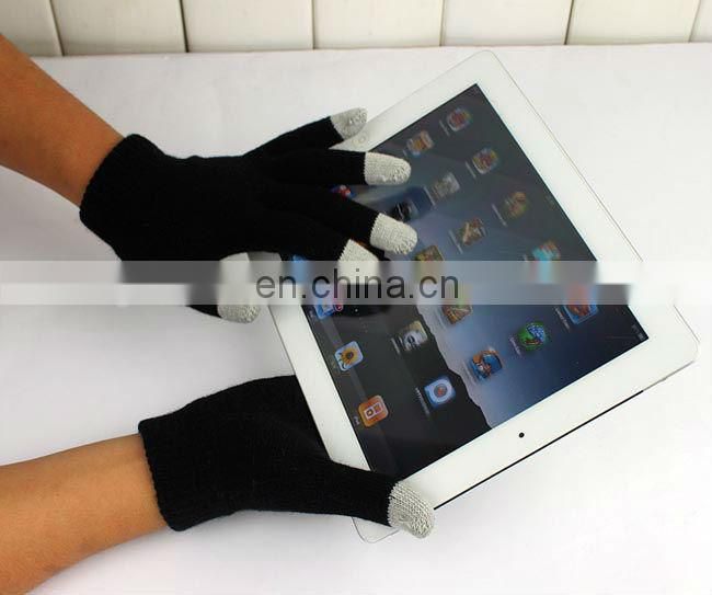 Convenient three warmer fingertips touchscreen gloves for winter