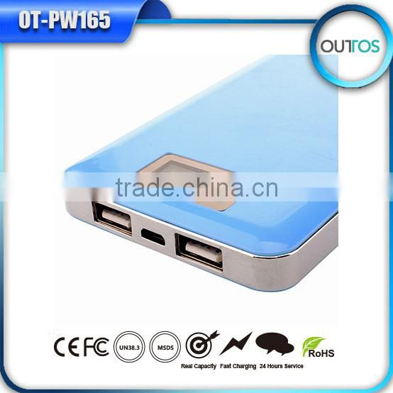 China Market Of Electronic Dual USB High Capacity Power Bank 12000mah With LCD Display
