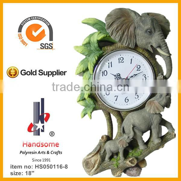 16'' St. michael statue resin clock