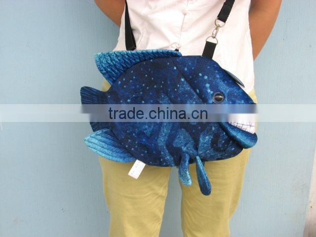 fish shaped plush handbag