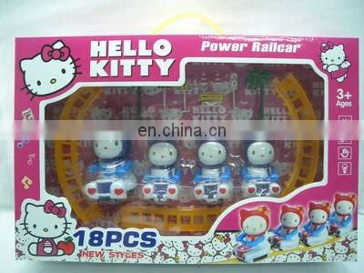 lovely plastic b/o railway set toys for children