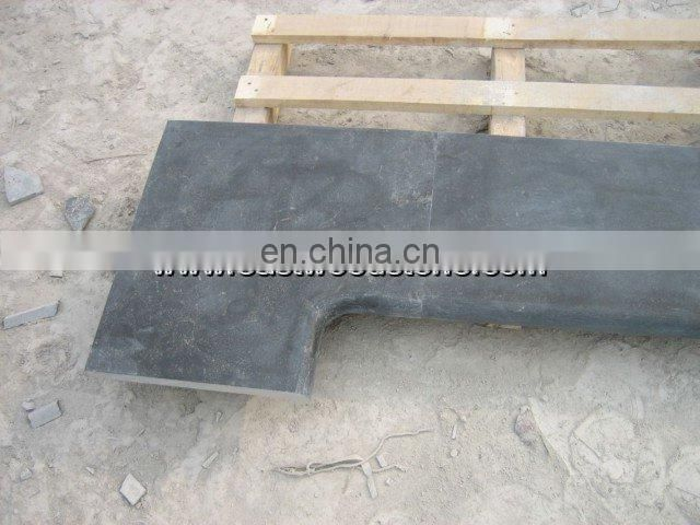 black granite pool coping bullnosed