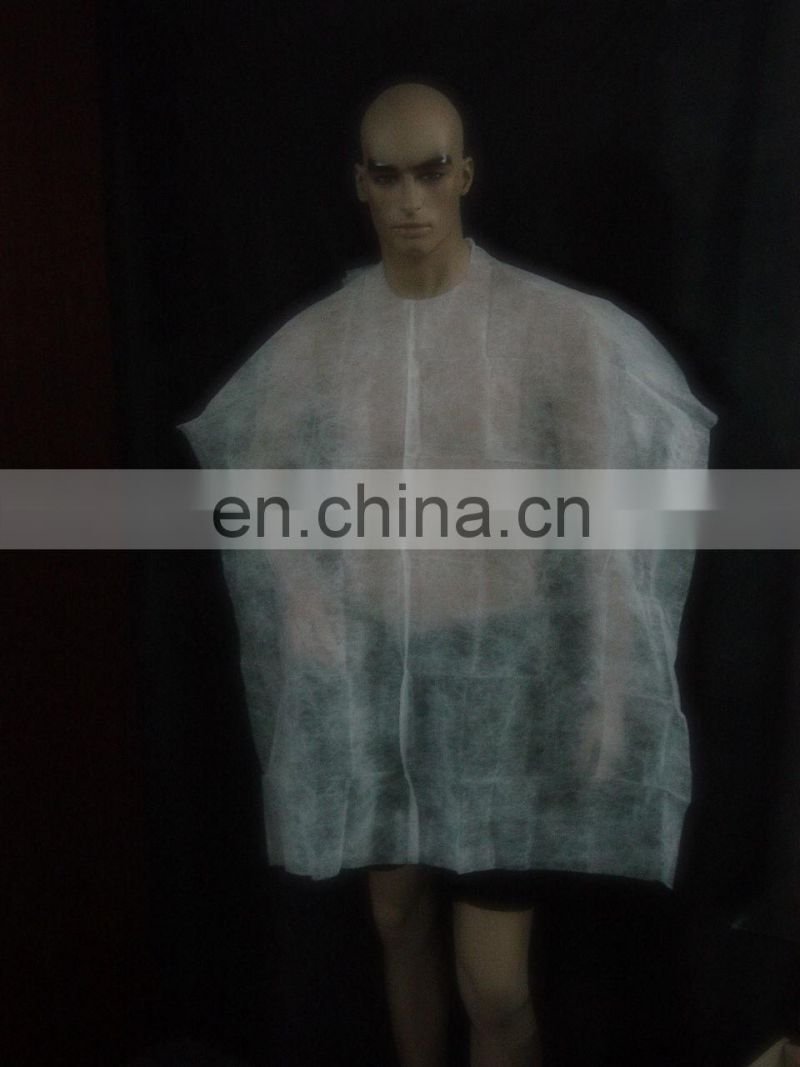 disposable salon PE PP poncho coat for hair dressing