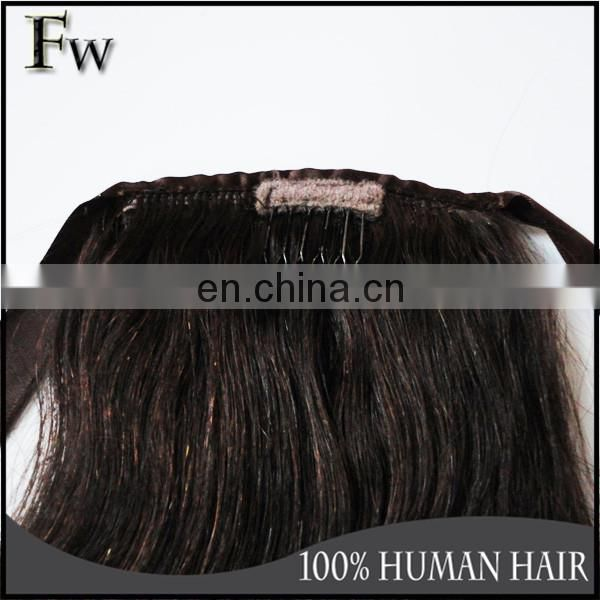 Soft beautiful human hair extension lovely popular yaki human hair ponytail