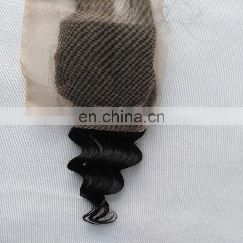 Top quality free part hair closure full lace loose wave hair closure cheap virgin brazilian hair extensions products